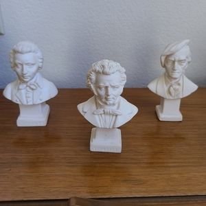 Set of 3 Busts of Composers